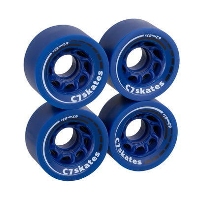 C7skates Midsummer's Eve dark blue 62mm roller skate wheels made from durable 83A polyurethane