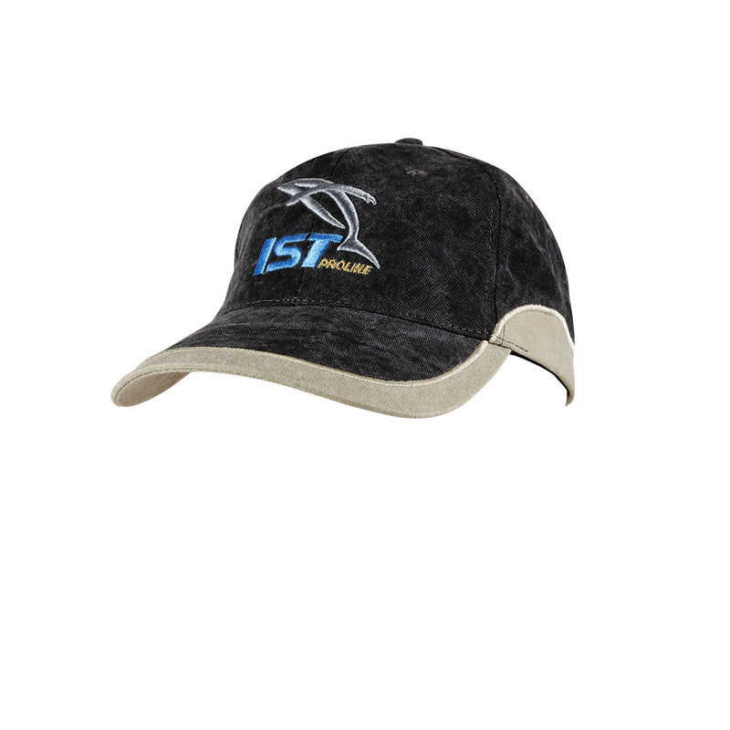 IST Two-Tone Stonewash Baseball Cap with Embroidered Logo