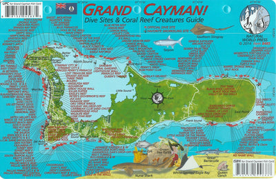 Franko Maps Grand Cayman Island Dive Map & Reef Creatures Guide