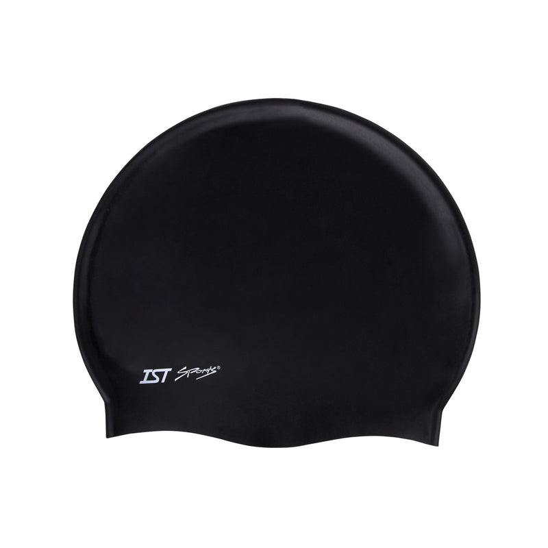 IST Solid Color Silicone Swimming and Watersports Cap for Adults
