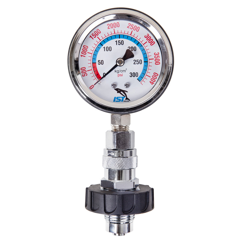 IST Premium DIN Tank Pressure Checker With Gauge