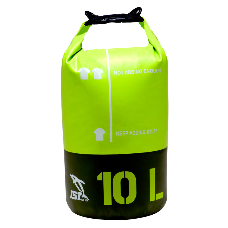The IST 10 Liter Dry Bag is built for adventuring. The 500D material is completely waterproof, weatherproof and opaque for privacy.