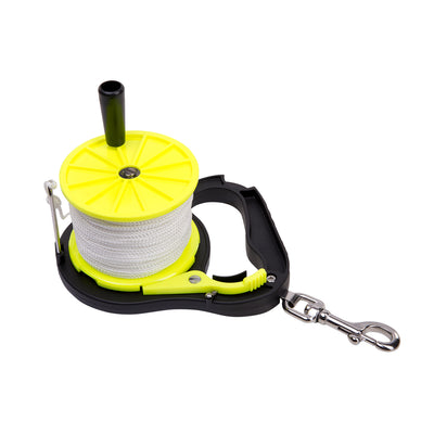 Trident Large, Ratchet Lock, Winding Handle Dive Line Reel 250 Ft Line