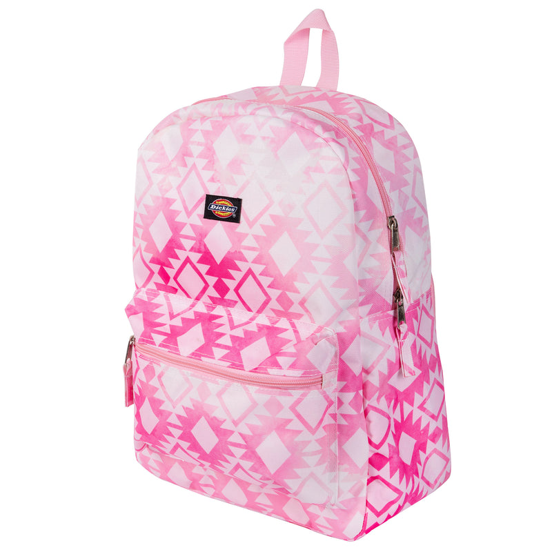 Dickies Recess Pink and White Aztec Pattern Backpack