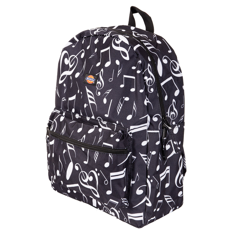 Dickies Recess Black and White Music Note Backpack