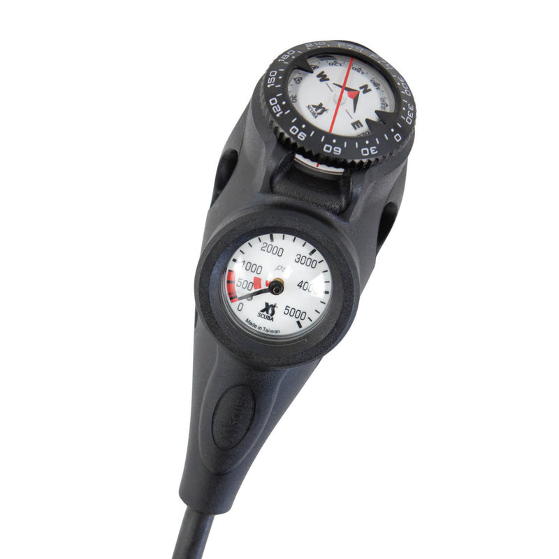 XS SCUBA Orca Console 3 Gauge 0 To 5000 PSI Compass Pressure Depth