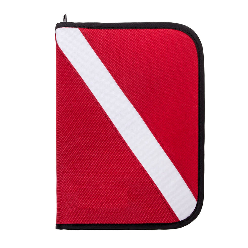 6-Ring, Zippered, Canvas Dive Log Book / Organizer, Diver Down Flag
