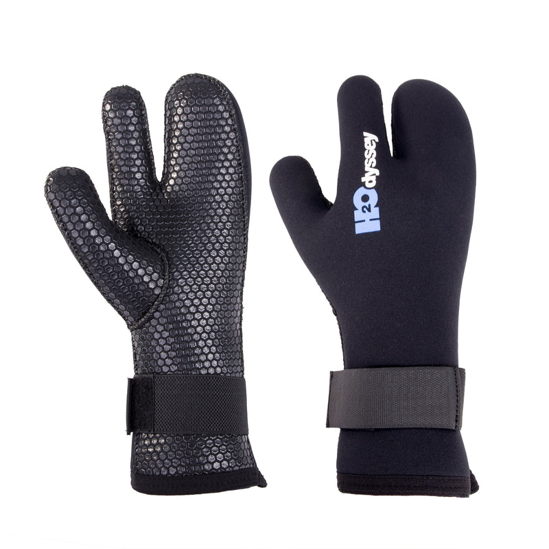 H2Odyssey 6.5mm Neoprene Diving Gloves, Extra Thick Lobster Claw Glove