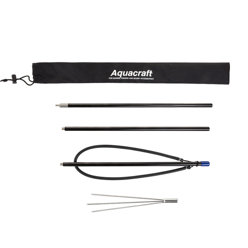 Aquacraft® 3 Segment Pole Spear with 3-Prong Paralyzer Tip, Storage Bag