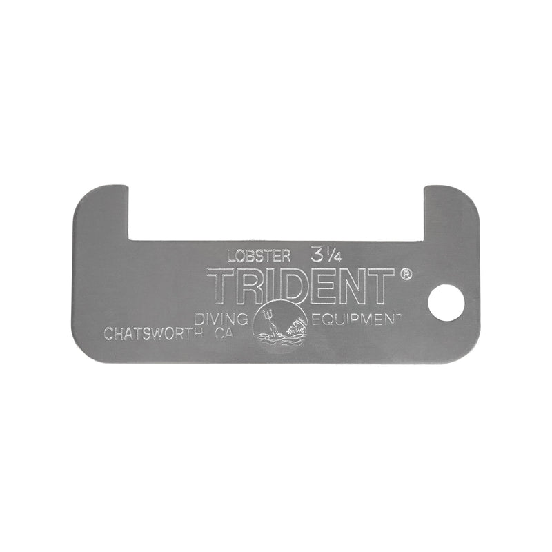 Trident California Lobster Measurement Gauge, Aluminum, 3.25 Inch
