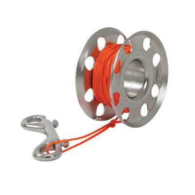 XS SCUBA Highland Flared Stainless Steel Finger Spool with Orange Line