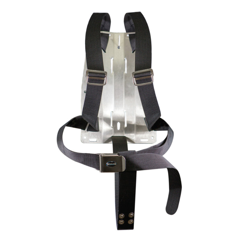 XS SCUBA Highland Tec Rec Harness 2 Inch Webbing Stainless Steel Backplate