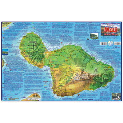 Franko Maps Hawaii Maui Adventure Guide 14 X 21 Inch