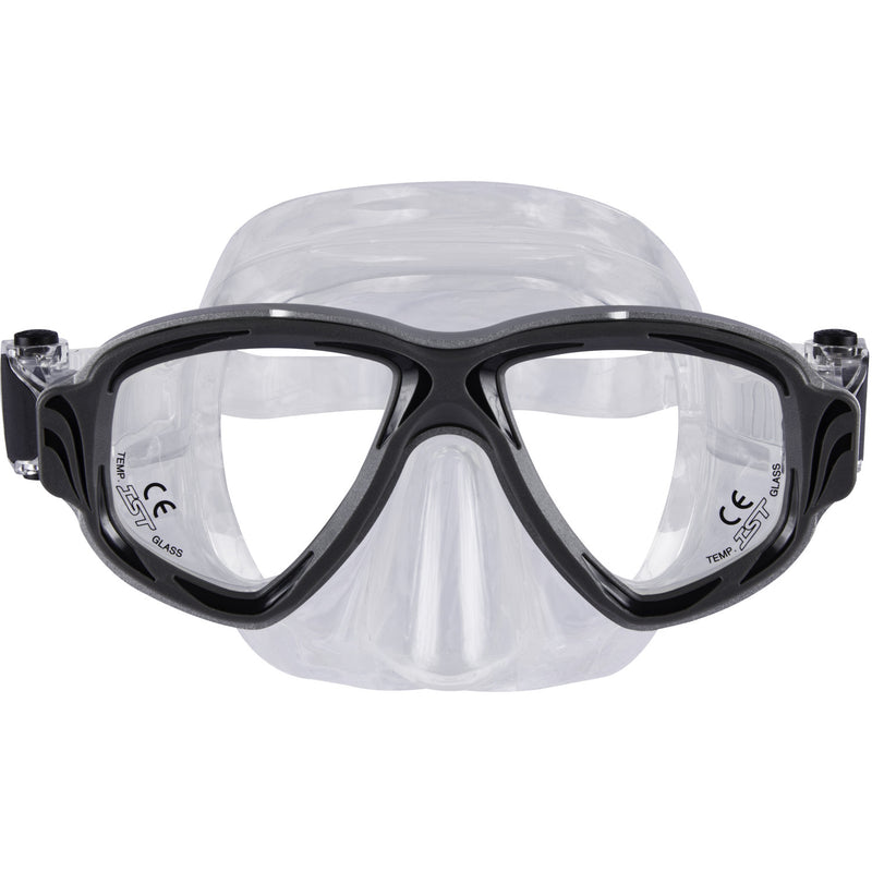 IST Synthesis 2 Window Aluminum Frame Scuba Dive Snorkeling Mask