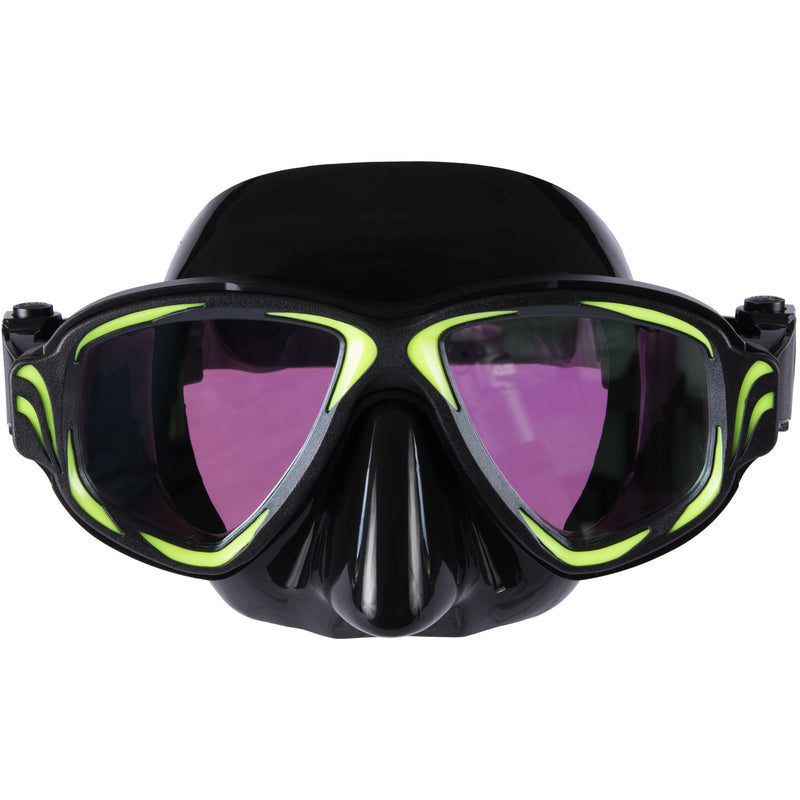 IST M200-BSM Synthesis 2-Window, Tinted Lens Aluminum Dive Mask