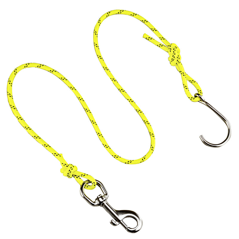 IST JL-4 Drift Hook, Reef Hook with 5' Braided Nylon Rope and Clip