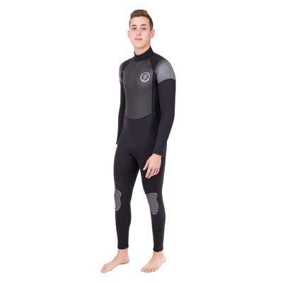 Black Seavenger 3mm neoprene surf wetsuit for men