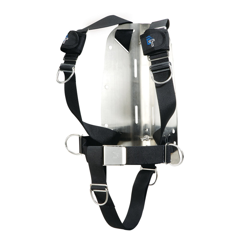 IST Dolphin Tech Basic Dive Harness with Aluminum Backplate