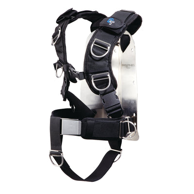 IST Dolphin Tech Deluxe Dive Harness with Stainless Steel Backplate