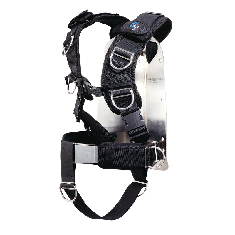 IST Dolphin Tech Deluxe Dive Harness with Aluminum Backplate
