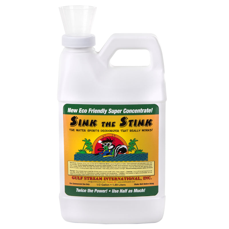 Sink The Stink® Watersports Deodorizer, 1/2 Gallon Concentrate
