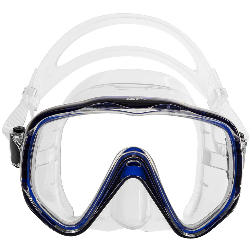 IST Venus Oversized Single Lens Tempered Glass Scuba Diving Snorkeling Mask
