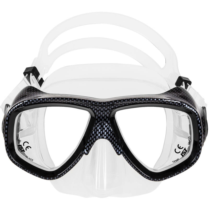 IST M80-06 Search Twin Lens Scuba Diving Snorkeling Mask with Custom Rx Lens Option