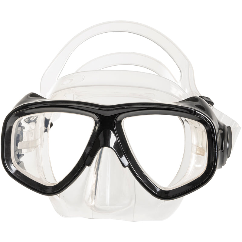 IST M80 Black Search Twin Lens Scuba Diving Snorkeling Mask with Custom Rx Lens Option