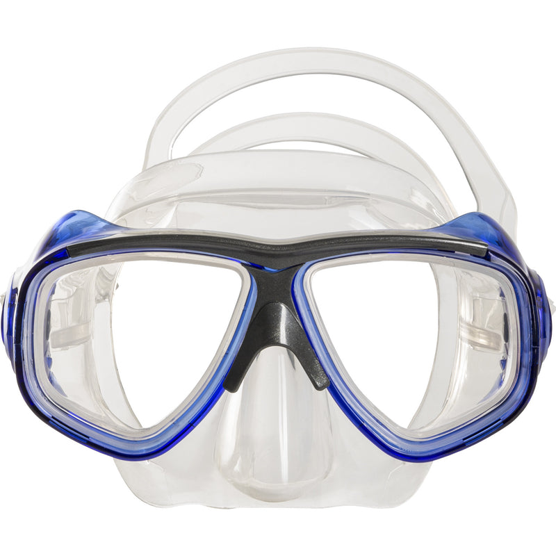 IST M80 Blue Search Twin Lens Scuba Diving Snorkeling Mask with Custom Rx Lens Option