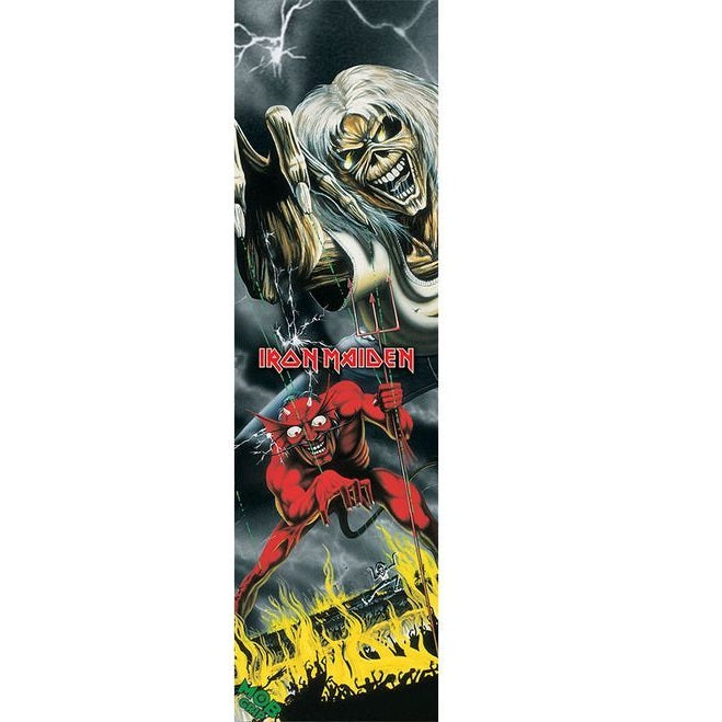 "MOB Graphic Iron Maiden Number of the Beast Skateboard Grip tape 9"" x 33"""