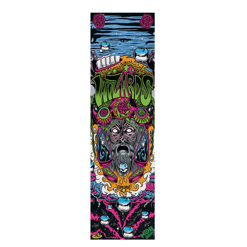"Mob DIRTY DONNY WIZARDS Skateboard Grip tape 9"" x 33"""