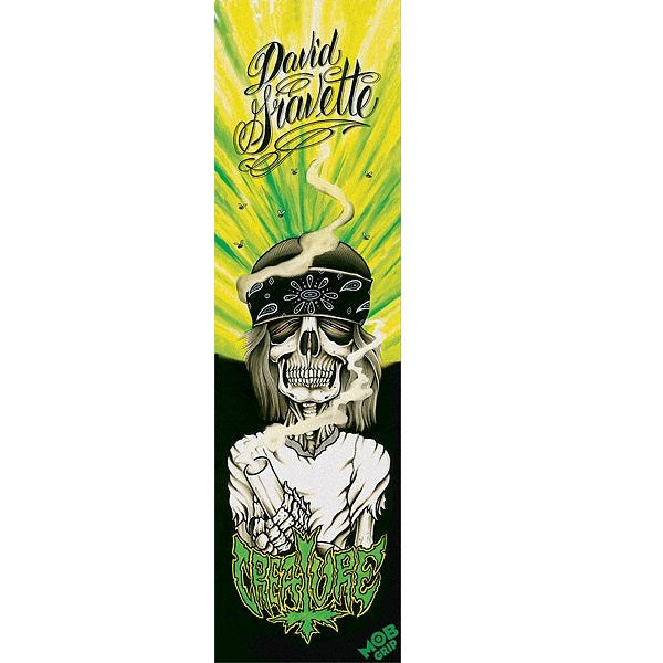 "Creature Mob Gravette Hippy Skull#1 Skateboard Grip tape 9"" x 33"""