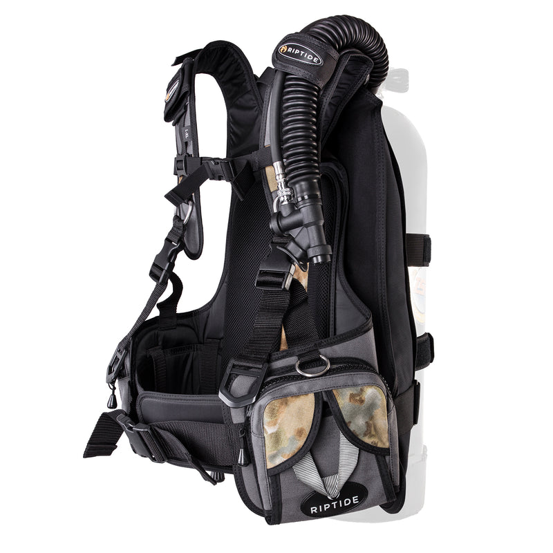 Riptide Mutineer Lightweight Mens Back Mount BCD Weight Integrated