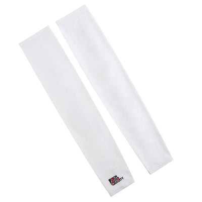 white cycling arm sleeves for sun protection