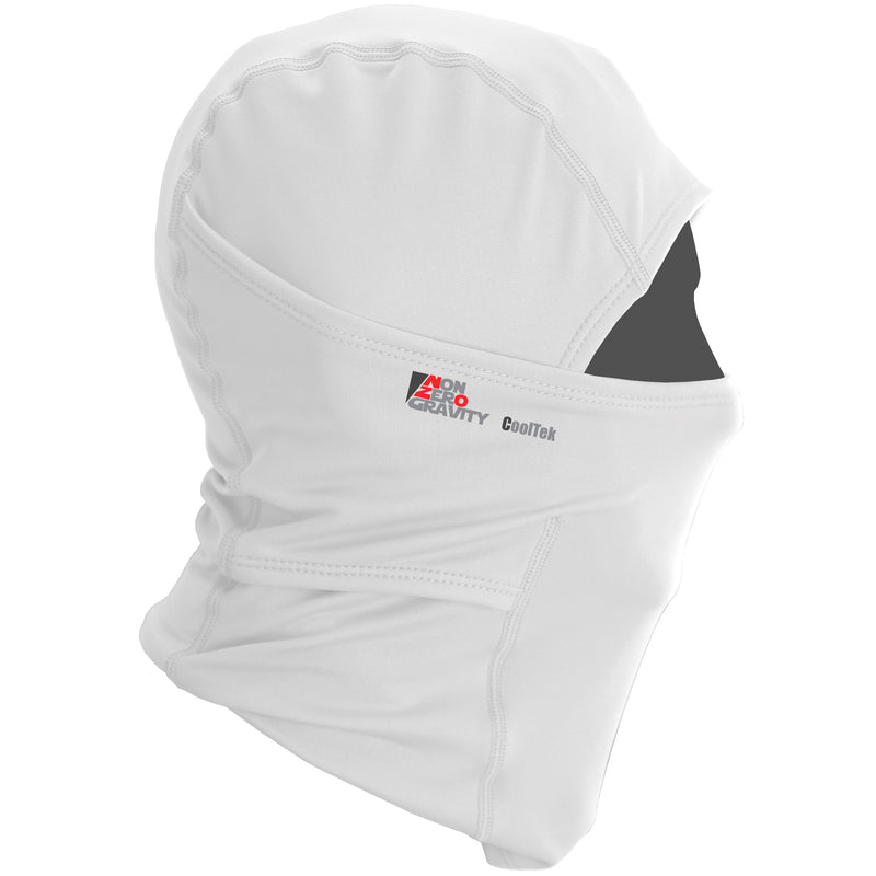 white summer balaclava for cycling