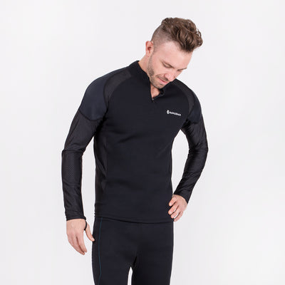 Men's black neoprene long sleeve sauna shirt
