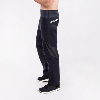 men's black neoprene sauna pants