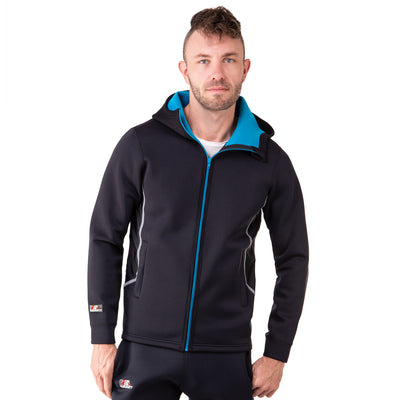 men's black neoprene sauna suit jacket
