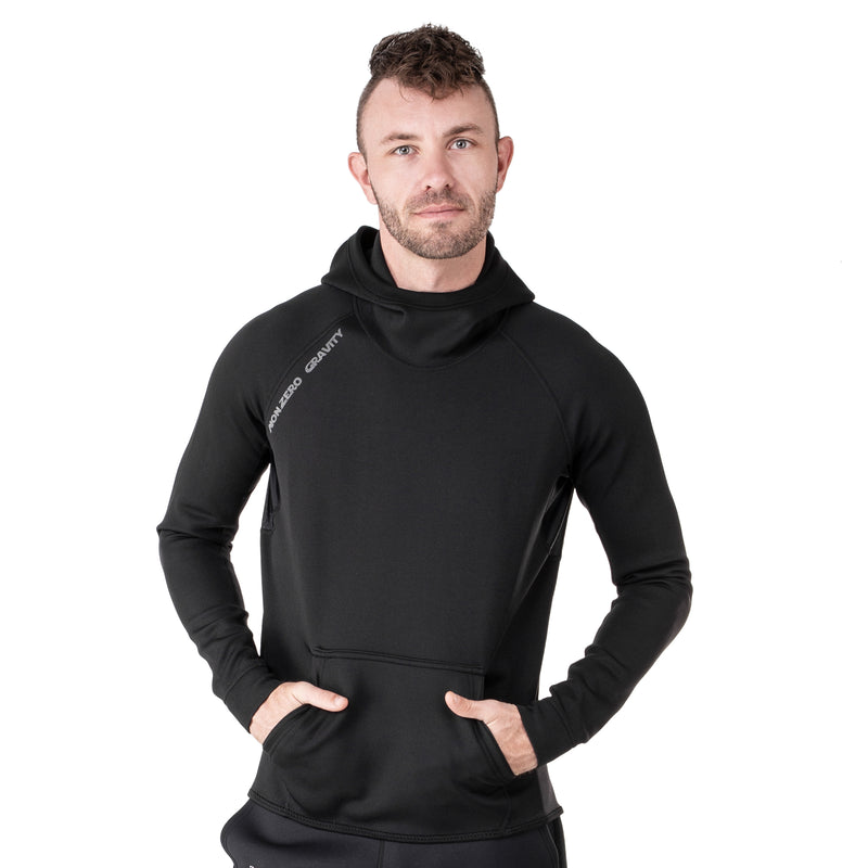 a black sauna suit hoodie for cutting weight