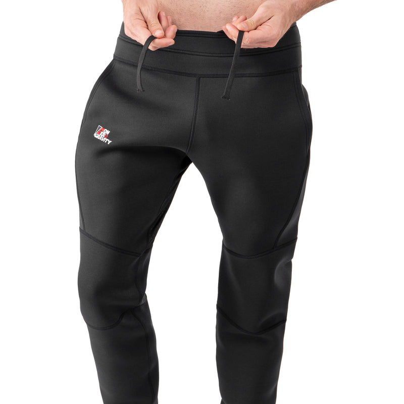 black neoprene joggers for cutting weight