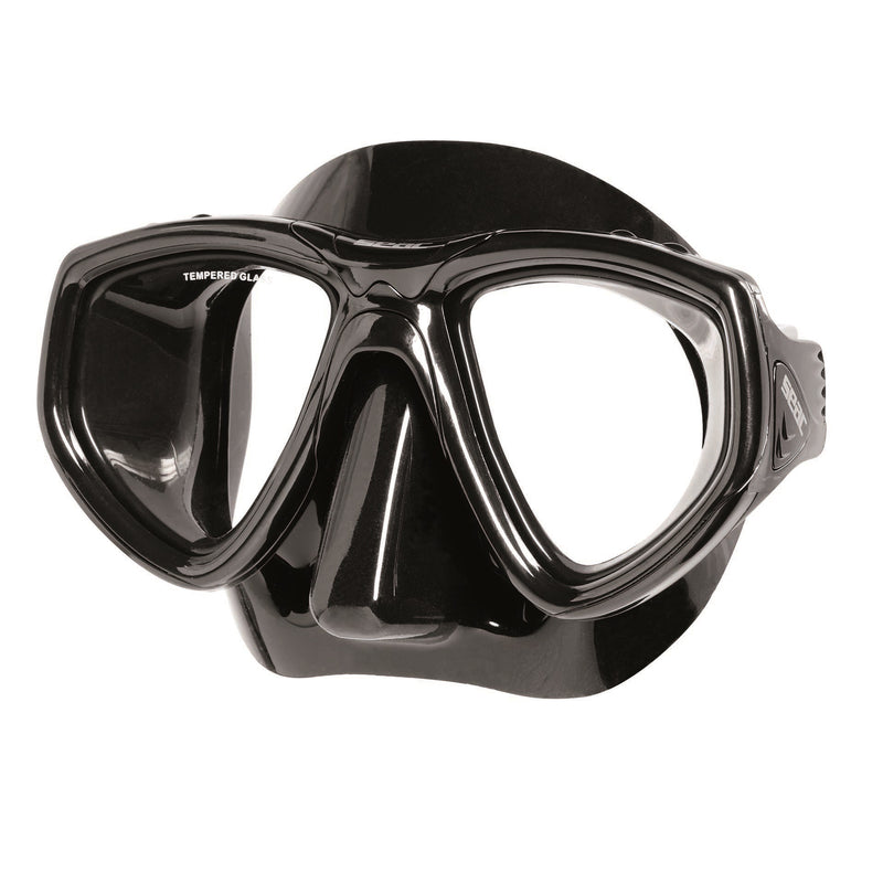 SEAC ONE Scuba Diving Snorkeling Freediving Mask, Dual Lens- Black