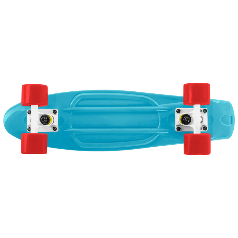 Cal 7 22 Inch Blue, White, and Red Retro Style Mini Cruiser Complete Skateboard