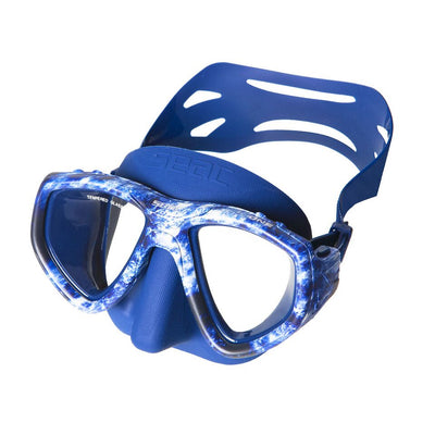 SEAC ONE Scuba Diving Snorkeling Freediving Mask, Dual Lens, Camo Series- Blue, Brown, Grey, Green