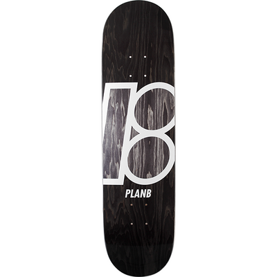 Plan B 8.1 Inch Stained Black Skateboard Deck