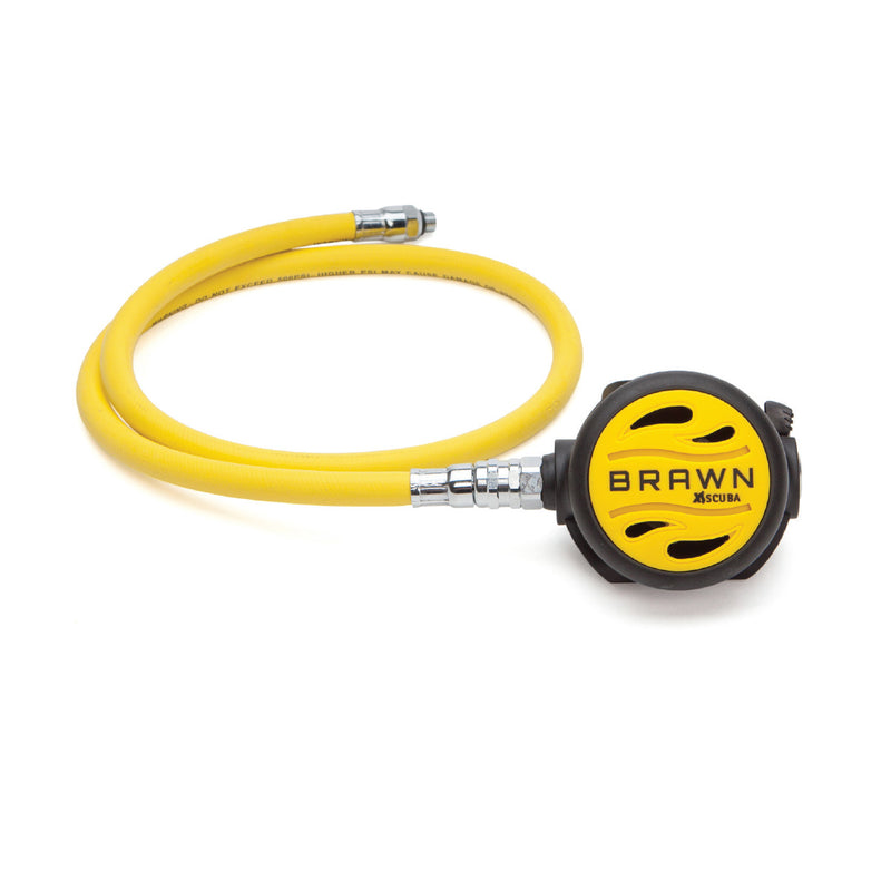 XS SCUBA Brawn Octopus with Venturi Lever and 36 Inch High Vis Yellow Hose