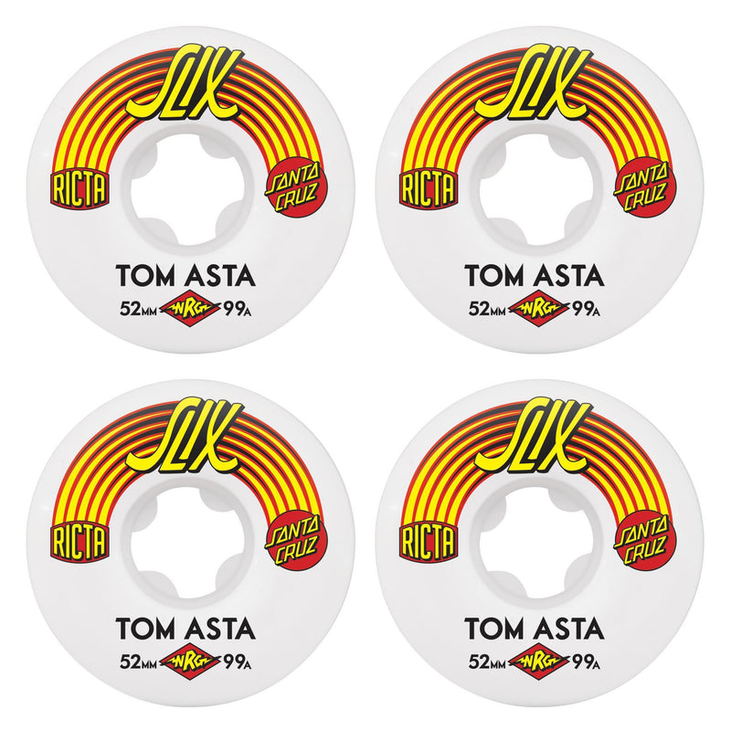 Ricta 52mm Tom Asta SLIX 99a Skateboard Wheels (4 Pack)