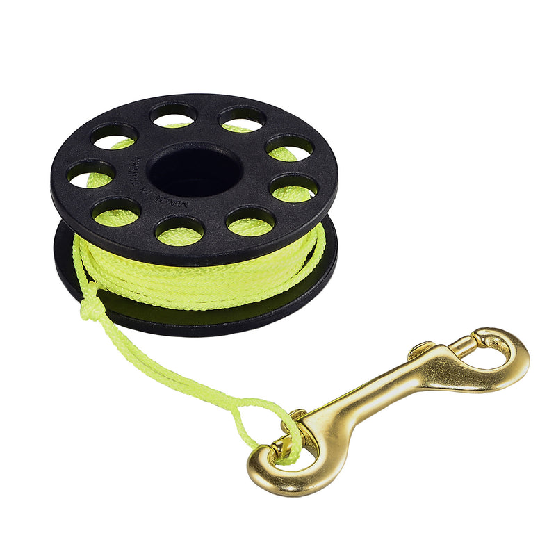 IST RL5 50Ft. / 15M Diver Lift Line Finger Reel with Double-Ended Bolt Snap
