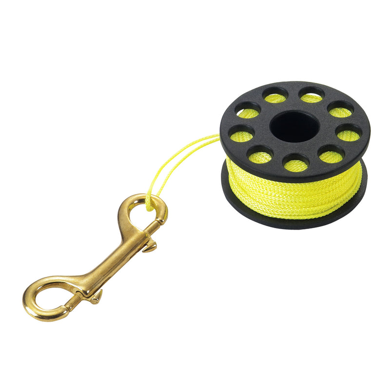 IST 100Ft. / 30M Diver Lift Line Finger Reel with Double-Ended Bolt Snap