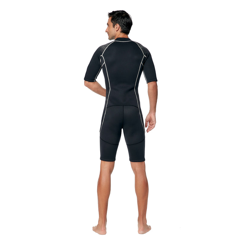 IST 3mm Nylon II Neoprene Front Zip Shorty with Super Stretch Panels - Men
