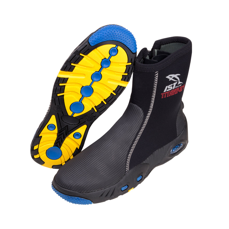 IST 5mm Titanium Lined High Cut Heavy Duty Dive Boots with Sneaker Sole